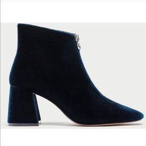 Zara velvet ankle boots!